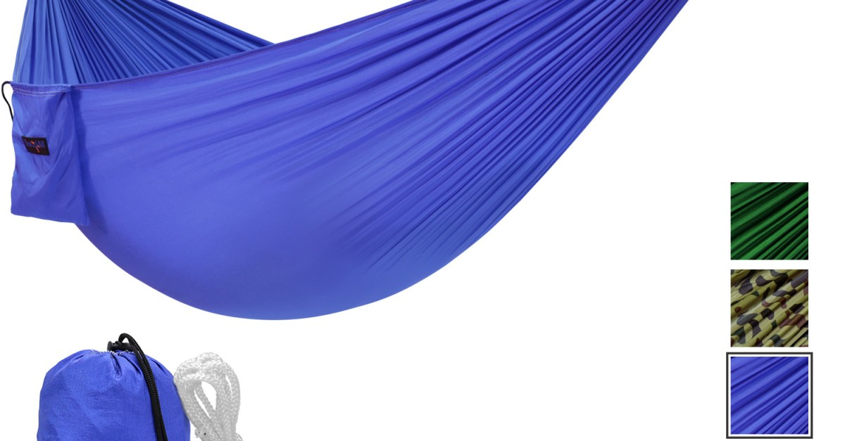 Yes4All single lightweight camping hammock for $8