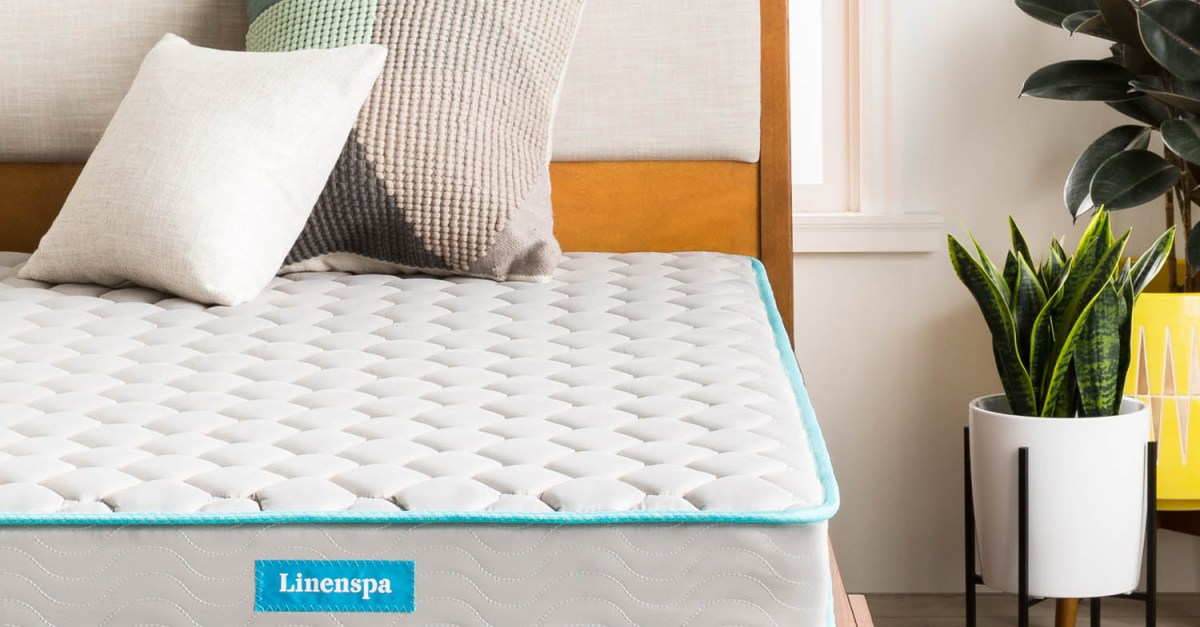 Linenspa 6″ Innerspring mattress-in-a-box from $72