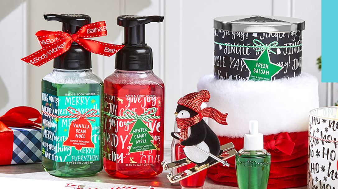 Bath & Body Works: Buy 3, get 2 FREE body care items