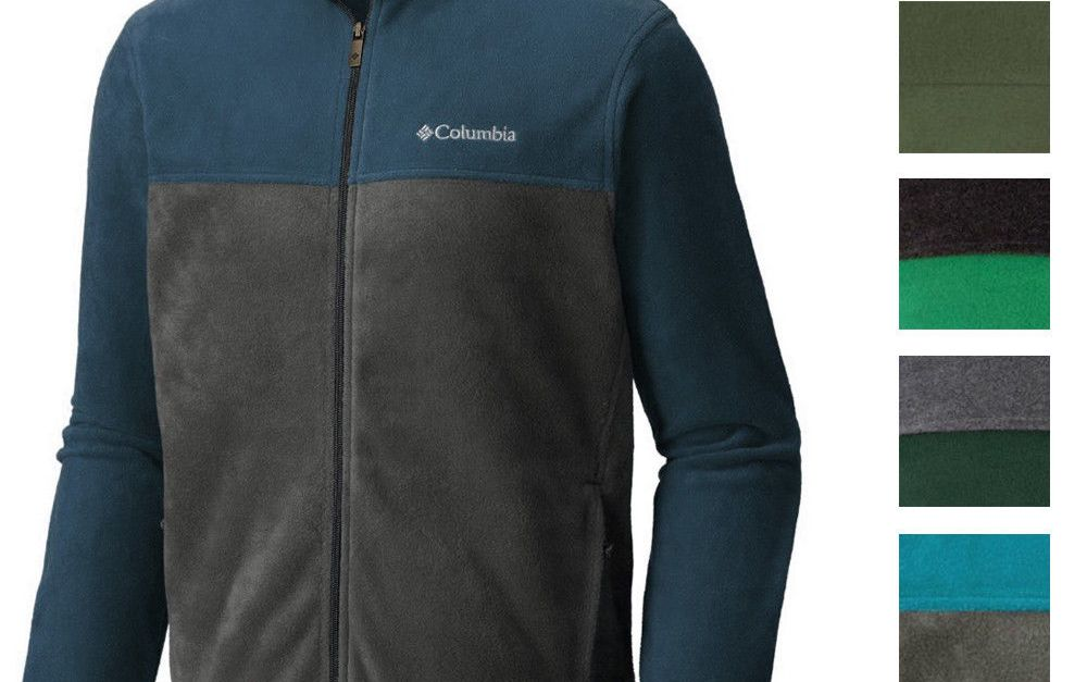 Columbia men's colorblock full zipper fleece jacket for $30, free shipping