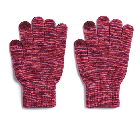 Women's SO Space-Dye Tech knit gloves for $2