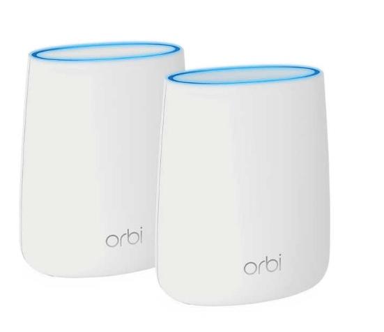 2-pack Netgear Orbi mini AC2200 Tri-Band Wi-Fi system for $160