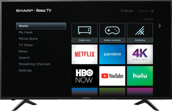 Sharp 65″ 4K HDR smart Roku TV for $450