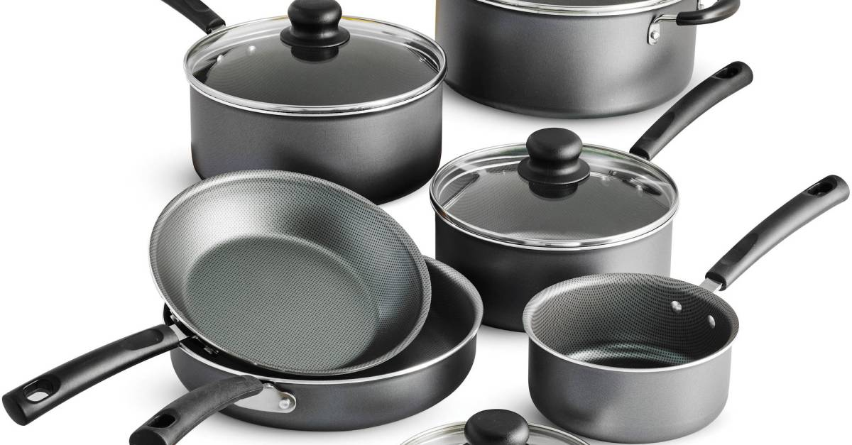 Tramontina PrimaWare 10-piece nonstick cookware set for $27