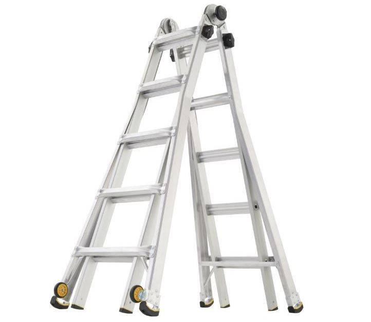 Gorilla Ladders 22-ft. MPX aluminum ladder with 375 lb. load capacity for $100