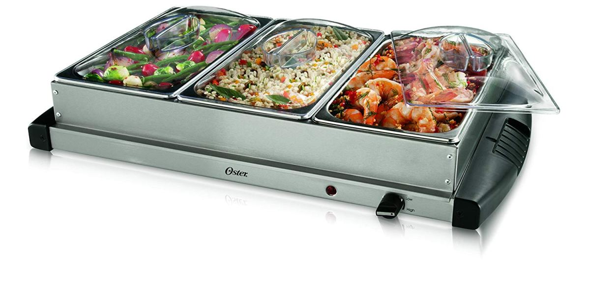 Prime members: Oster triple tray stainless steel buffet server for $25