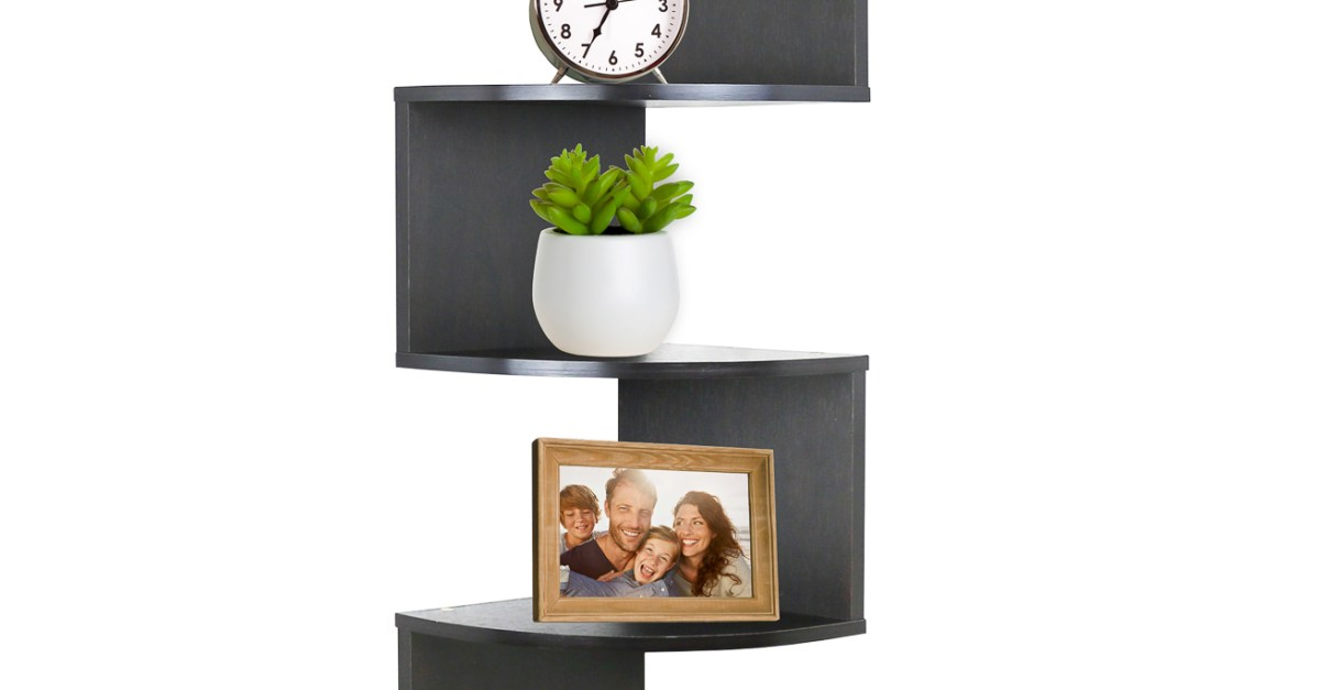 Greenco 5-tier wall mount corner shelves for $15