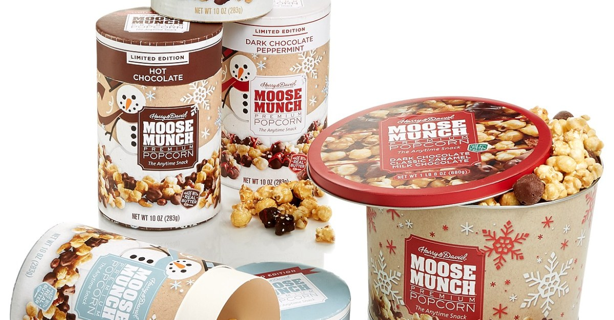 Harry & David Moose Munch gift canisters from $8