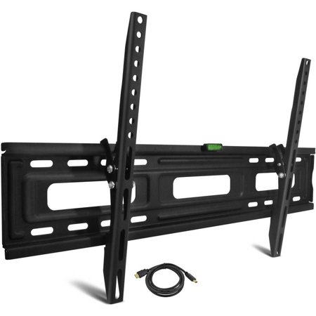Onn Tilting TV wall mount kit for 24″ to 84″ TVs with HDMI cable for $20