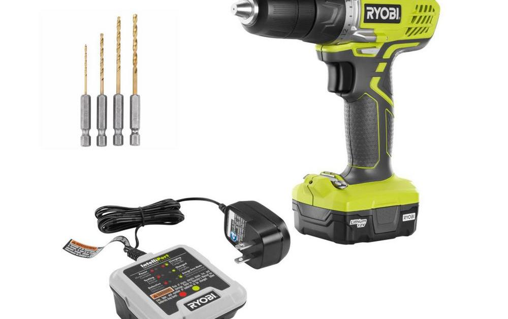 Today only: Ryobi 12-volt lithium-Ion cordless drill kit with battery for $35