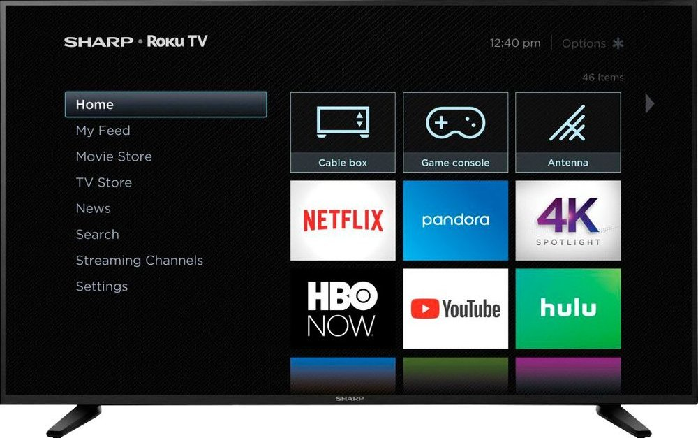 58″ Sharp 4K Roku smart LED TV for $380