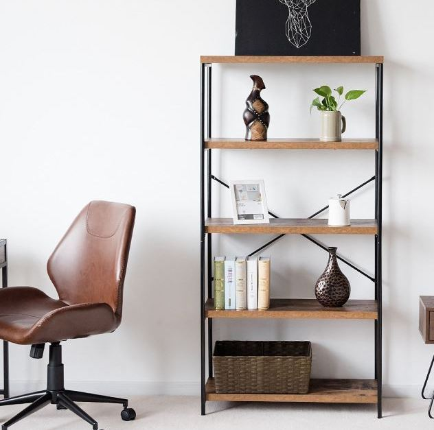4-tier industrial bookshelf for $72