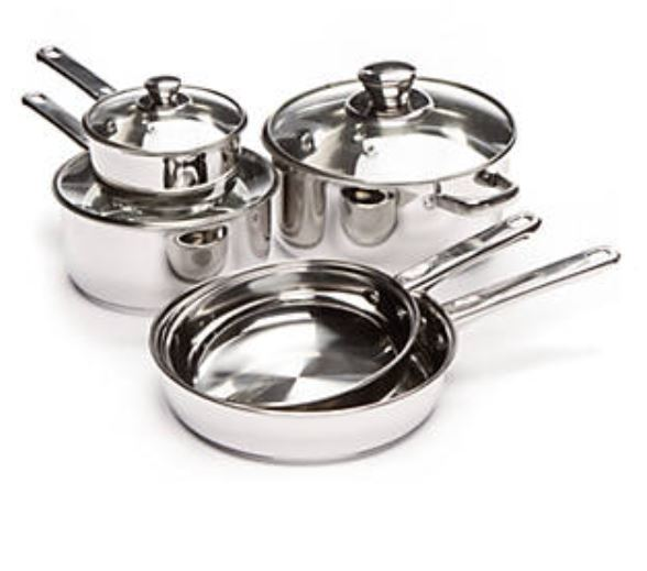 Cooks Tools 8-piece stainless steel cookware set for $40