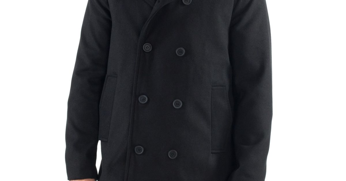Alpine Swiss Jake men's wool blend peacoat for $30, free shipping