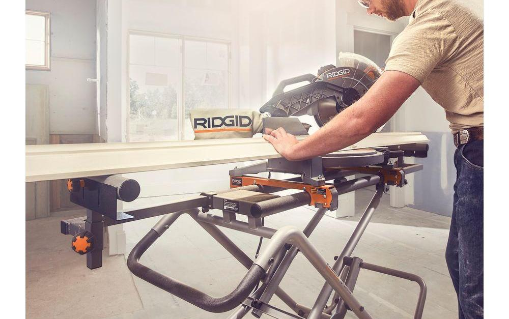 Ridgid universal mobile miter saw stand with mounting braces for $99