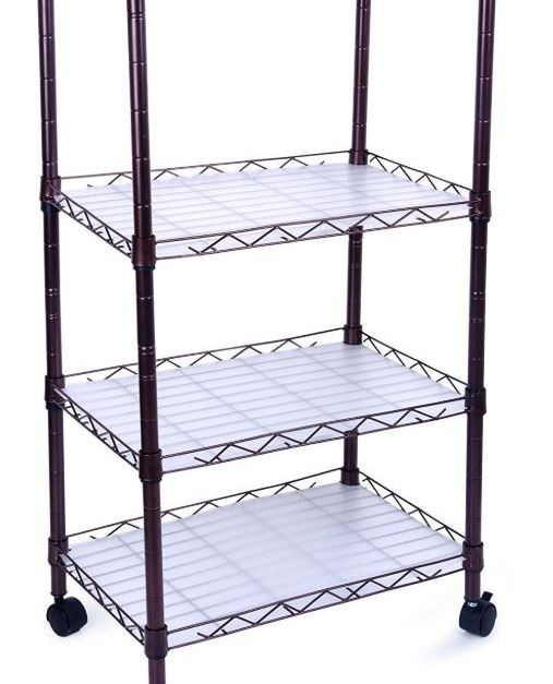 4-tier adjustable wire shelving rack for $21