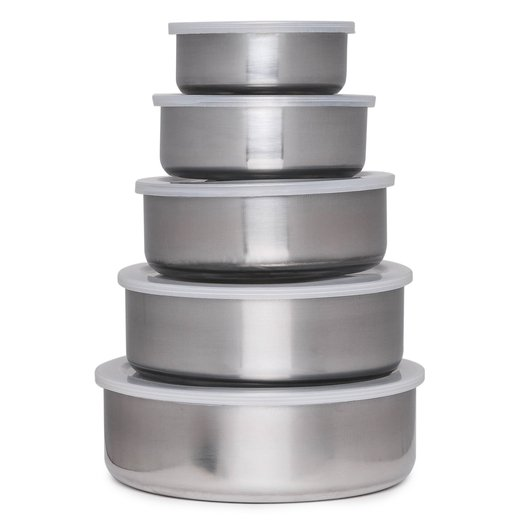 10-piece stainless steel container set for $5