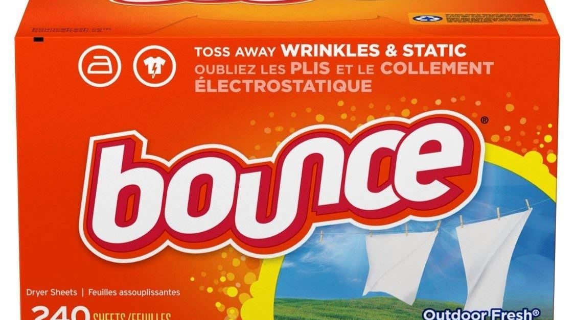 Bounce 240-count fabric softener and dryer sheets under $4