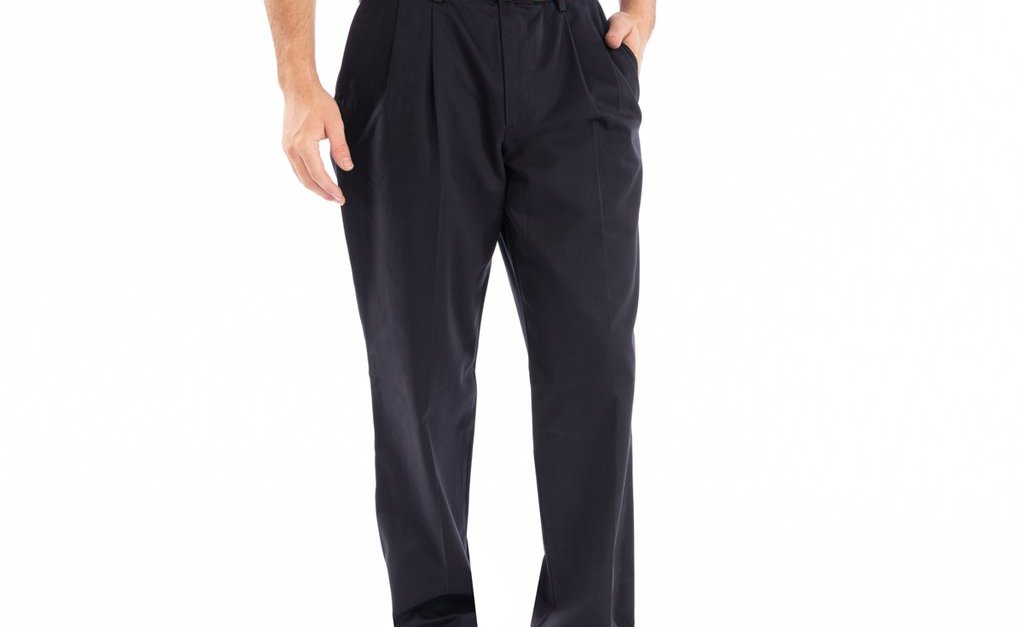 Dockers men's Signature Pleated classic fit pants for $20, free shipping