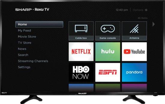 Sharp 40″ Smart Roku TV for $150