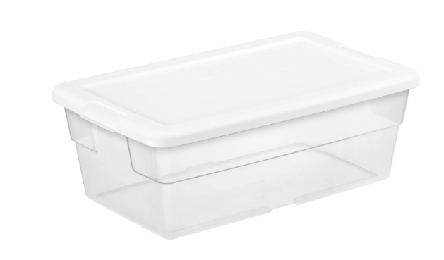 In-store: Sterilite 6-quart storage bin for $1