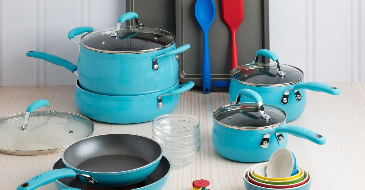 Price drop! Tasty 30-piece non-stick cookware set with FREE Google Home Mini for $75