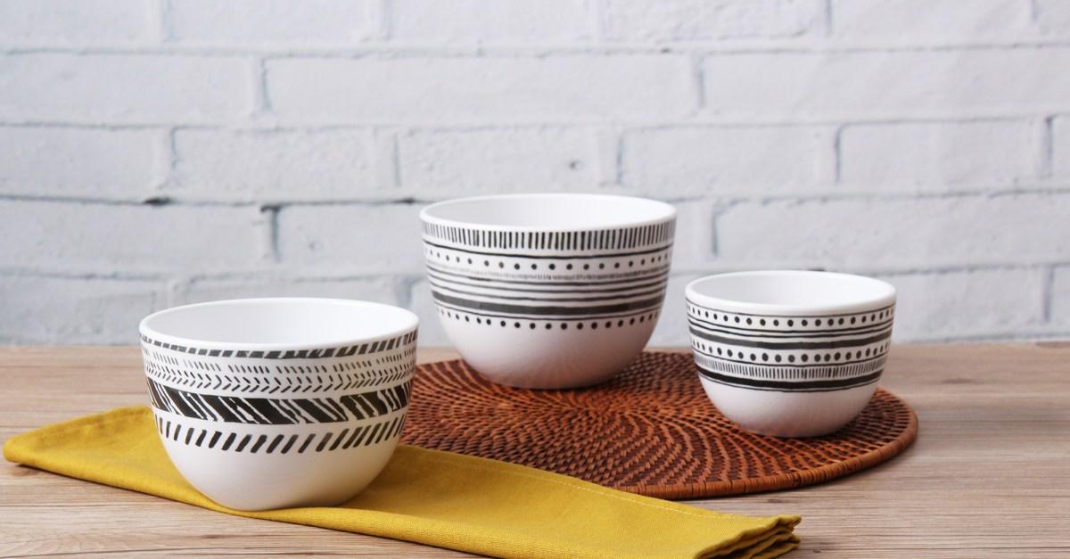Mainstays Melamine prep bowl set for $4