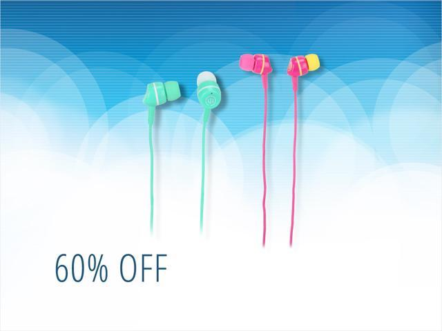 Wicked earbuds for $2, free shipping