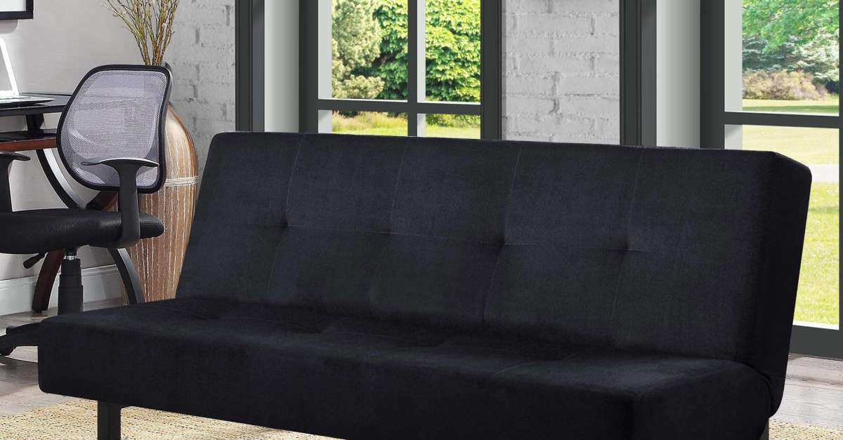 Mainstays 65″ 3-position tufted futon for $100