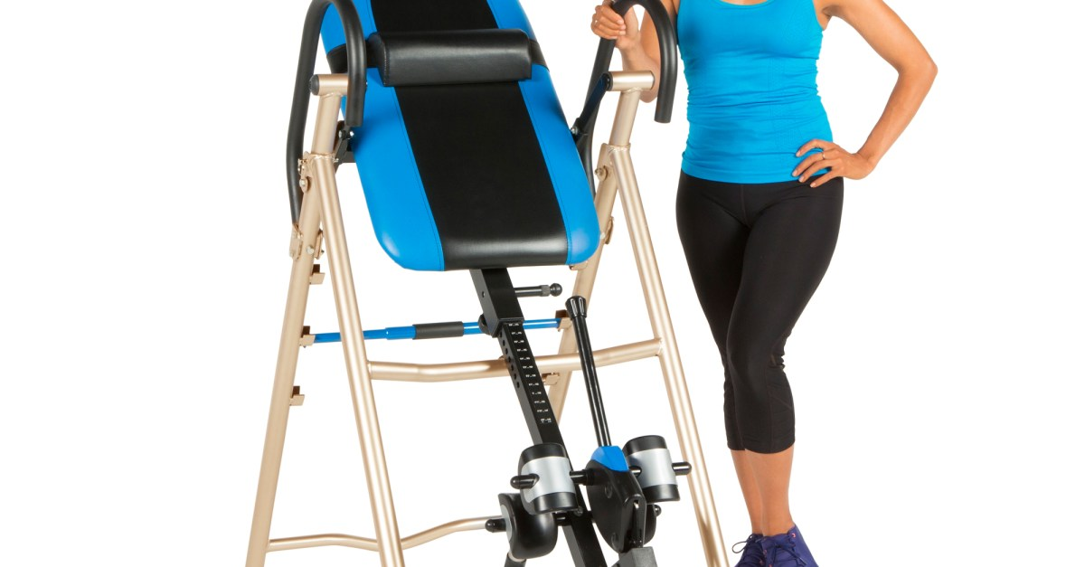Exerpeudic 175SL inversion table with lumbar support for $84