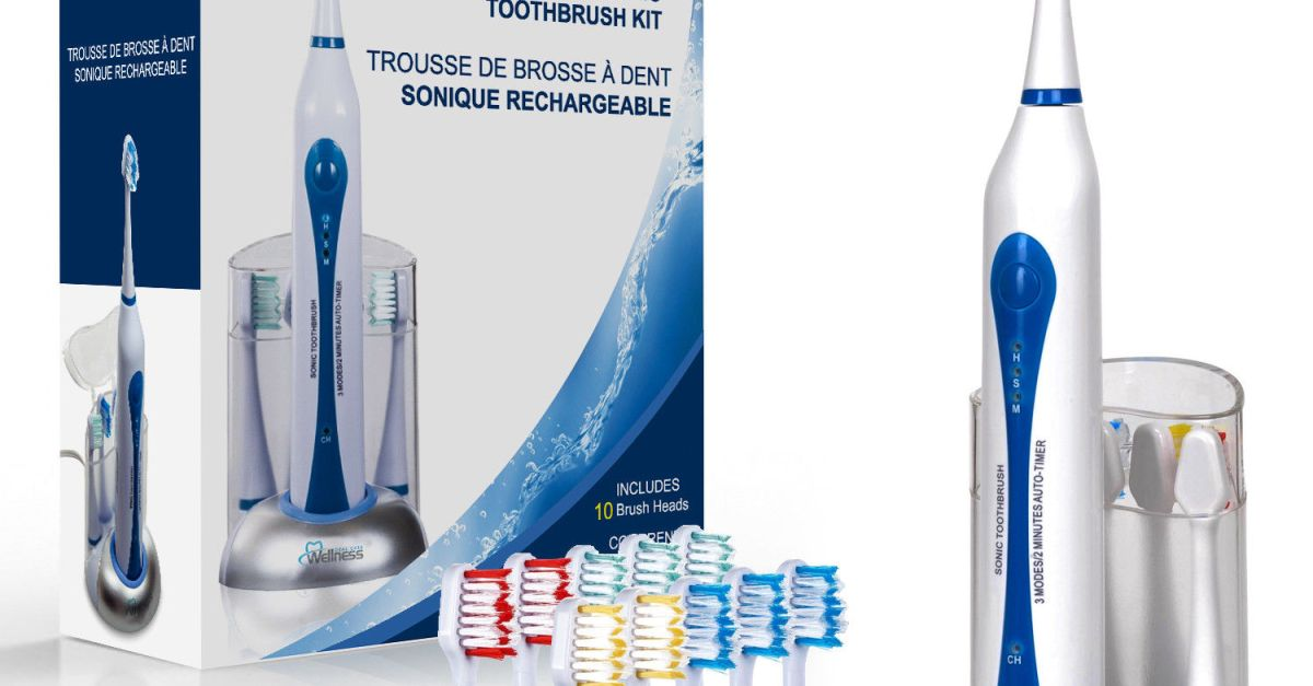 Wellness Oral Care Ultra Sonic rechargeable toothbrush for $18, free shipping