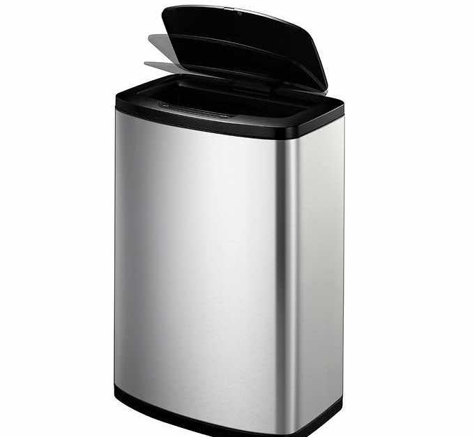 Eko stainless steel motion sensor trash can for $40
