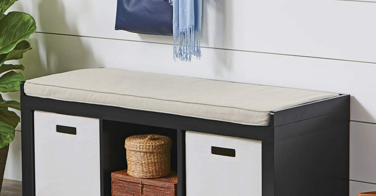 Better Homes and Gardens 3-cube organizer bench for $50