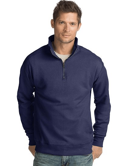 Hanes men's Nano premium lightweight quarter zip jacket from $11, free shipping