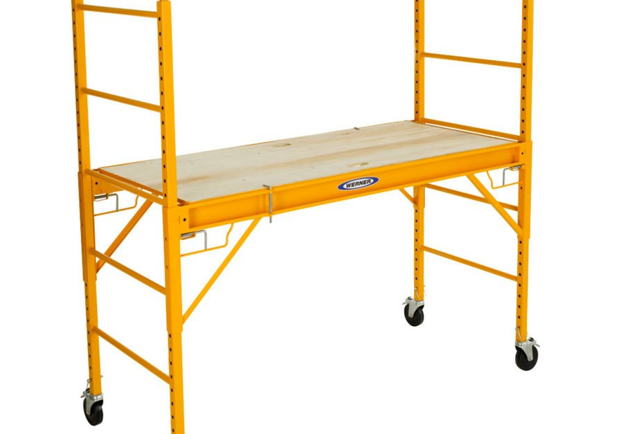 Werner 1000-lbs. steel rolling scaffold for $157