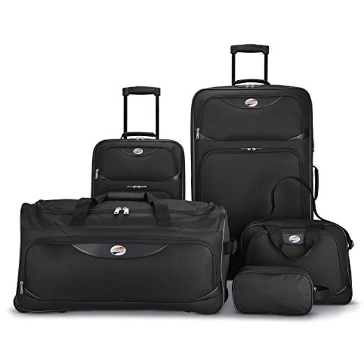 American Tourister 5-piece softside luggage set for $50
