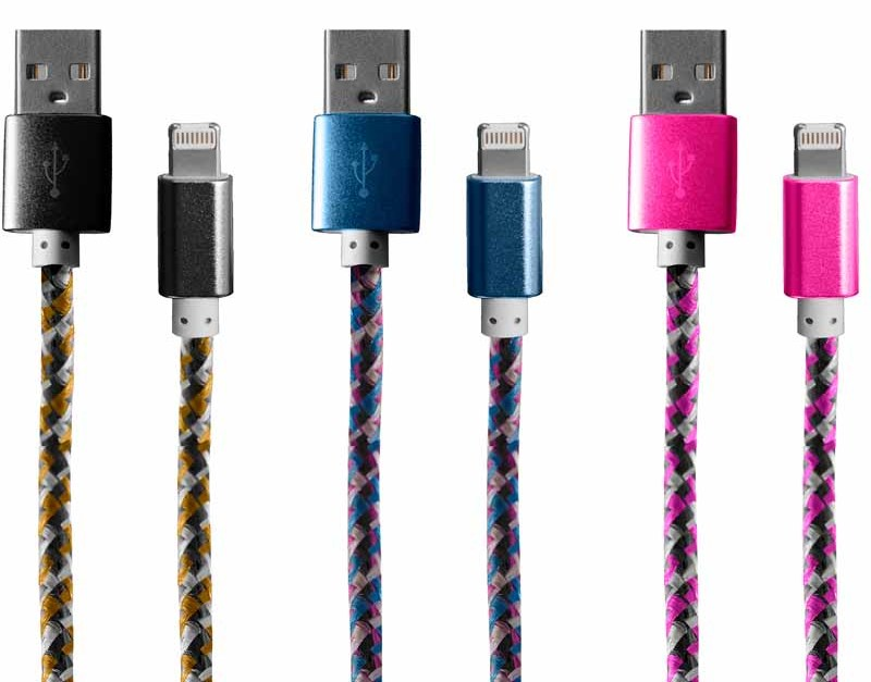 Today only: Bytech multi-color reversible USB cables for $2