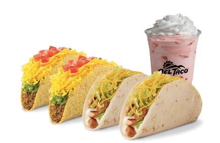 Enjoy 2 FREE tacos at Del Taco!