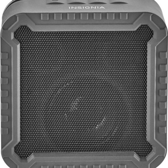Insignia rugged portable Bluetooth speaker for $8