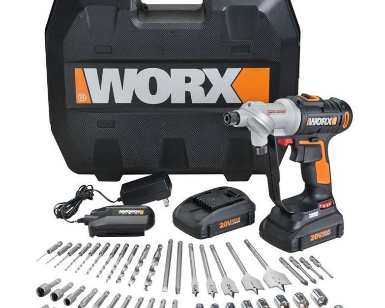 Worx Switchdriver 67-piece PowerShare cordless drill & driver for $95