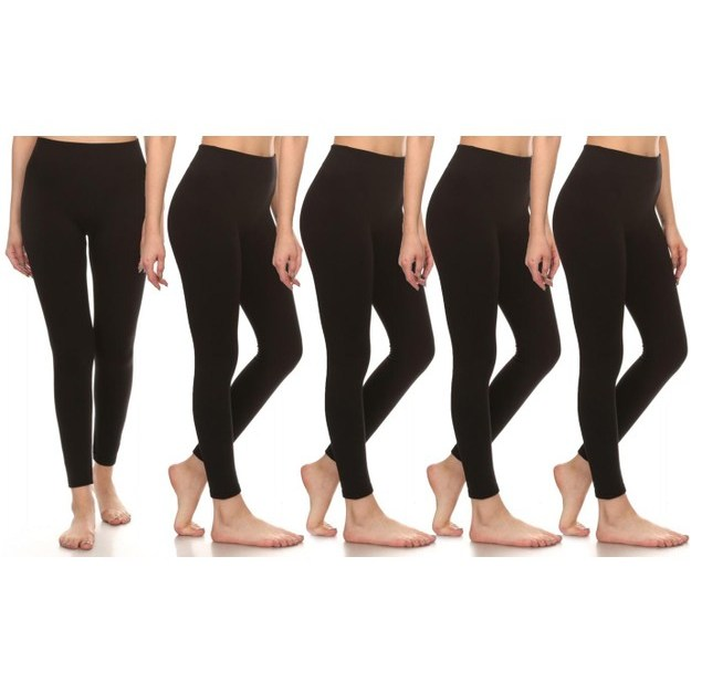 5-pack women's leggings for $18, free shipping