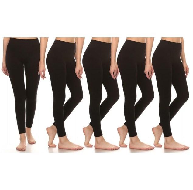 5-pack women's leggings for $18, free shipping