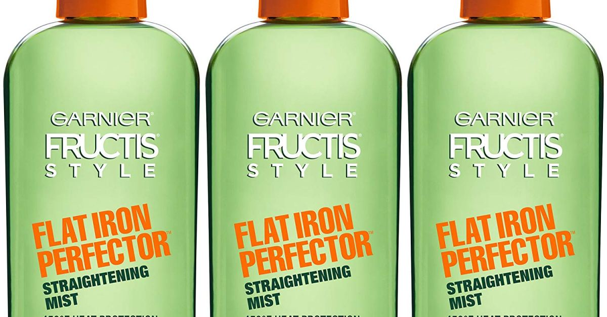 3-pack Garnier Frutis Style Flat Iron Perfector straightening mist for $8