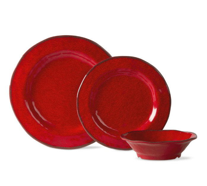 Today only: 12-piece Tag Lanai Melamine dinnerware set for $25