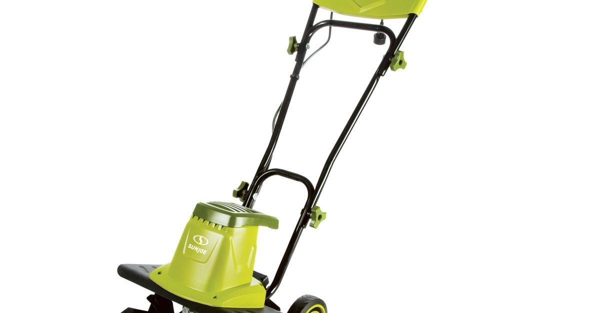 Sun Joe 12amp electric garden tiller/ cultivator for $95