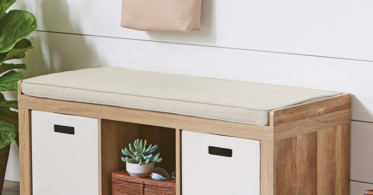 Better Homes and Gardens 3-cube organizer storage bench for $50