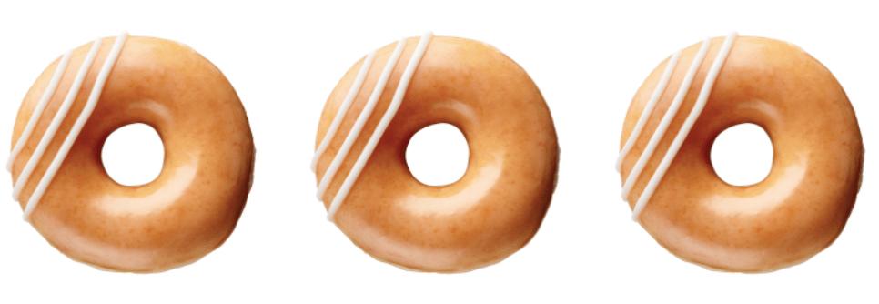 Enjoy a FREE Krispy Kreme original filled doughnut today!
