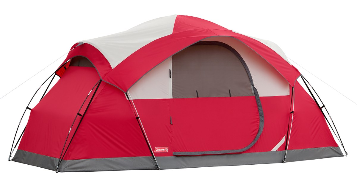 Coleman 8-person modified dome tent for $90