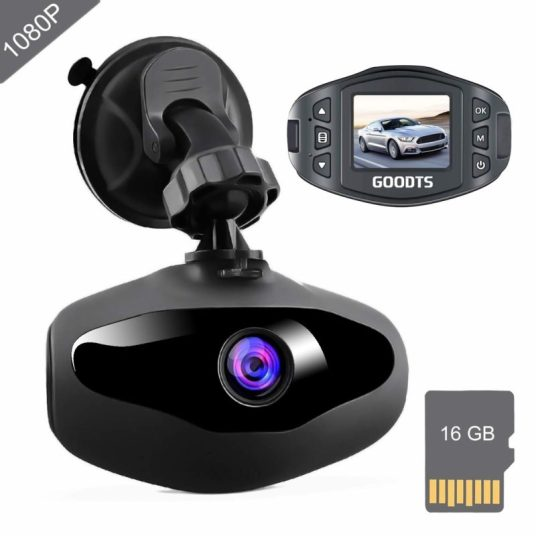Price drop! Goodts dash cam with 16GB memory card for $25