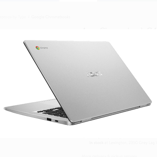14″ Asus 4GB, 64GB eMMC Chromebook for $199